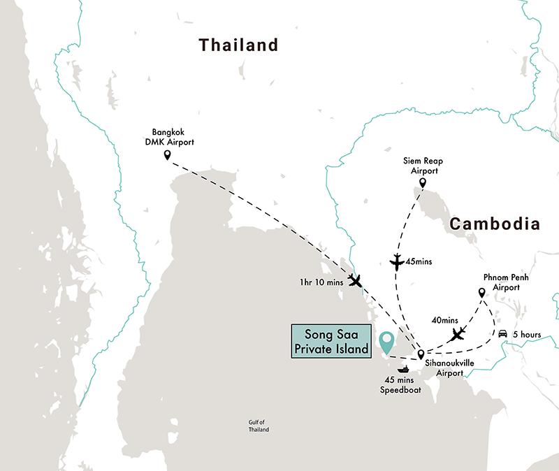 Karte von Song Saa
